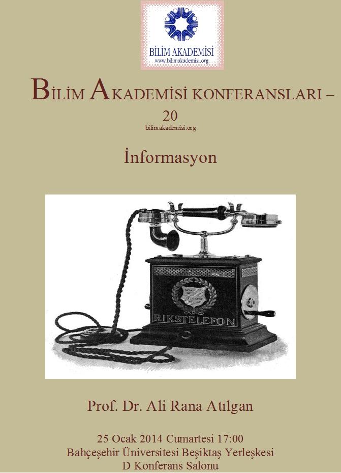 Information – Speaker: Ali Rana Atılgan