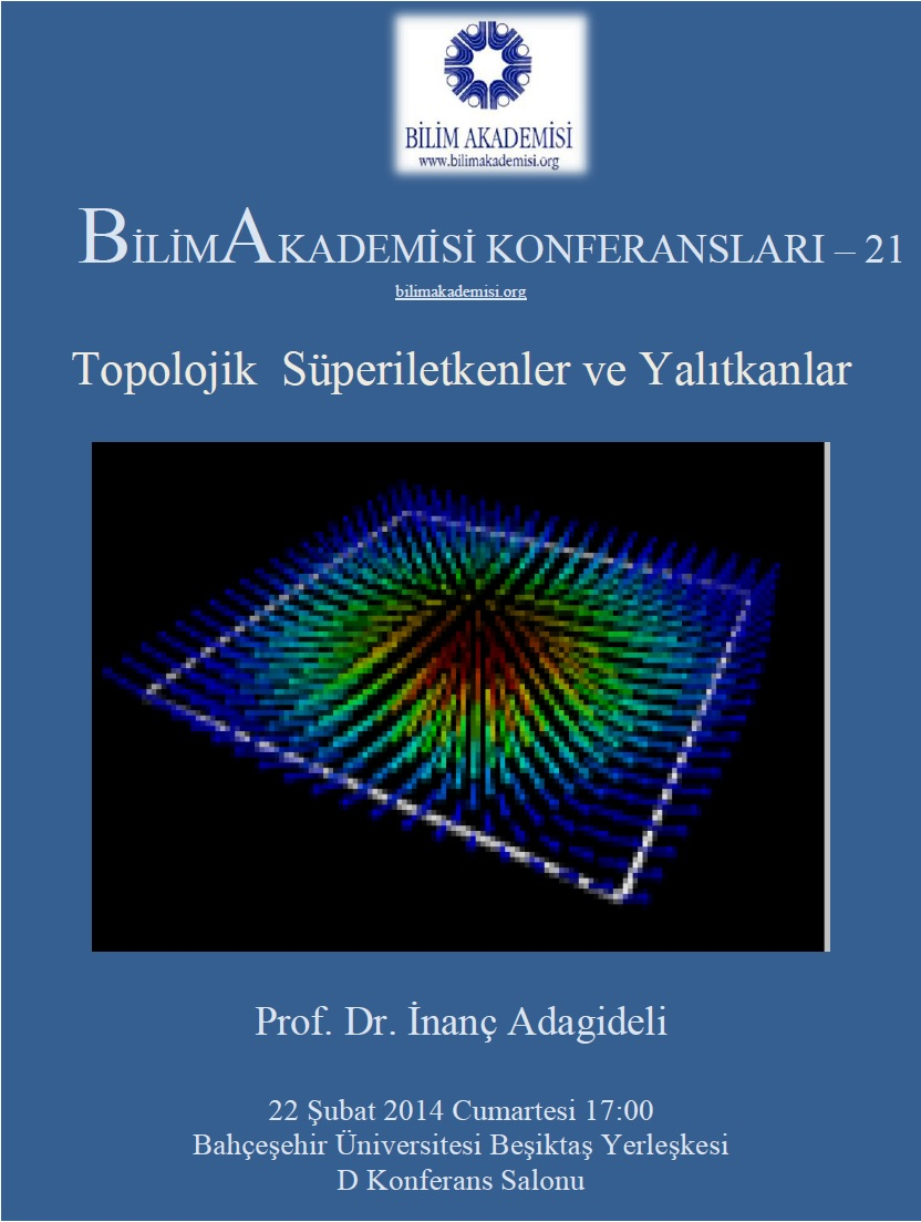 Topological Superconductors and Insulators– Speaker: İnanç Adagideli