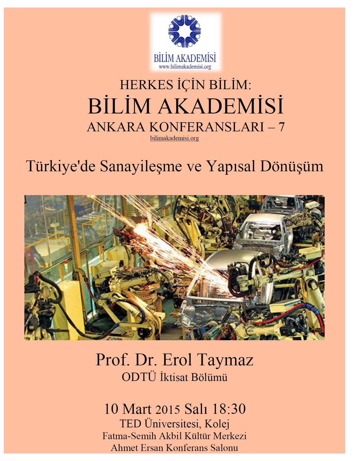 Industrialization and Structural Change in Turkey – Speaker: Erol Taymaz